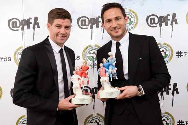 PFA salutes MLS-bound Steven Gerrard and Frank Lampard with merit awards