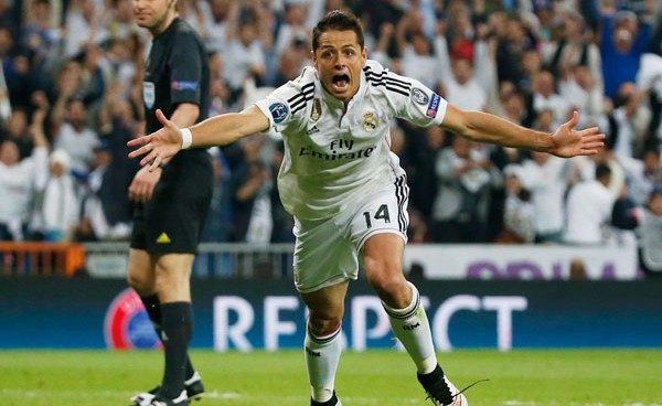 Chicharito an unlikely hero as Real Madrid edge into Champions League semi-finals