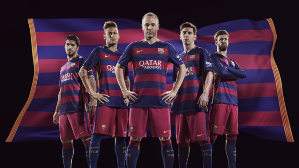Barcelona officially reveal controversial new kit for 2015-16 season [VIDEO]