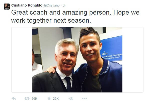 CR7 Carlo Ancelotti planning to take a year off should he get sacked by Real Madrid