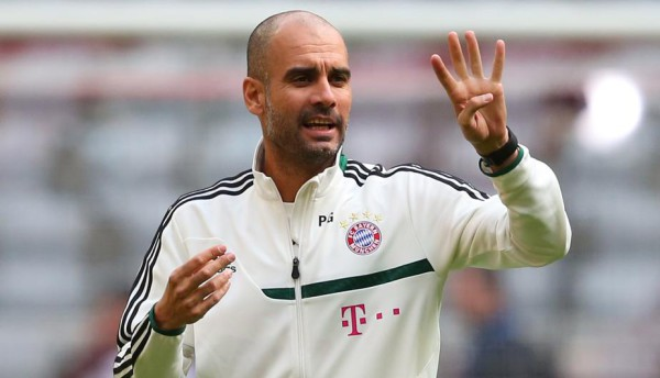 Guardiola 600x344 Pep Guardiola is wary of the threat posed by Bayer Leverkusen