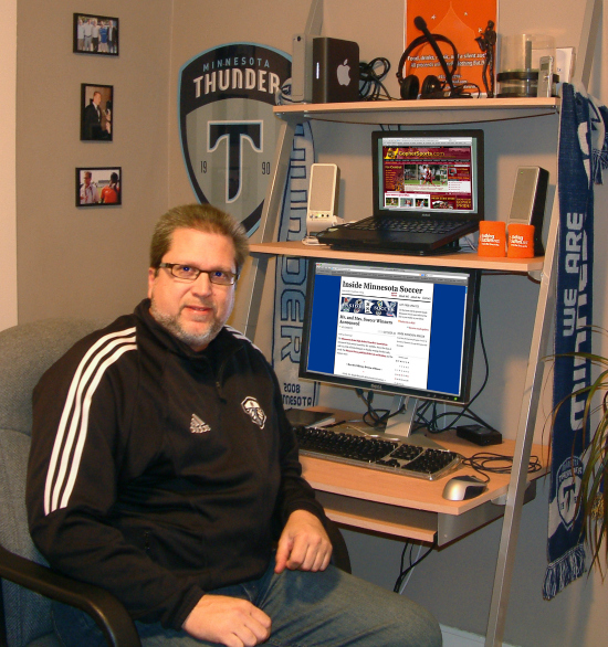 Photo of Brian Quarstad author of Inside Minnesota Soccer, insidemnsoccer.com