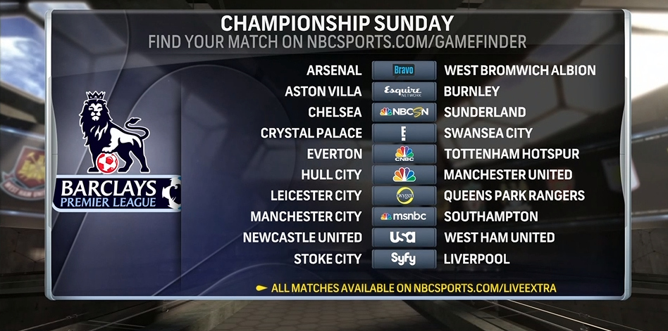 premiership football on tv today