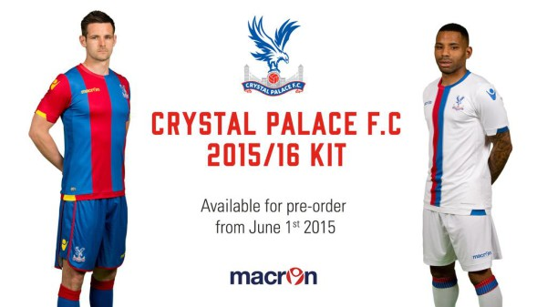 crystal palace home away shirts 600x337 Crystal Palace unveil home and away shirts for 2015 16 season: Official [PHOTOS]