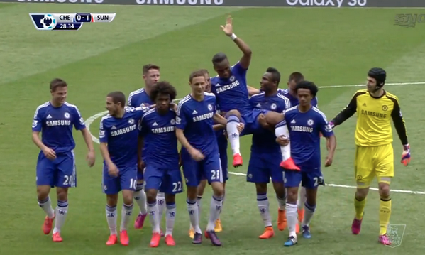 Watch Didier Drogba carried off by teammates in Chelsea farewell [VIDEO]