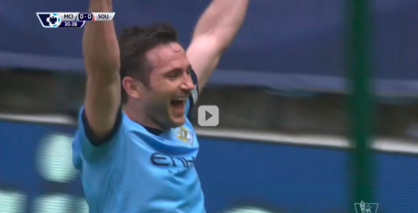 Frank Lampard scores in his final game for Manchester City [VIDEO]