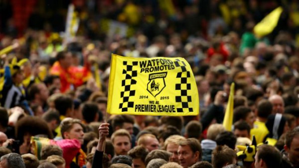 An American travels to Watford to experience Premier League promotion party