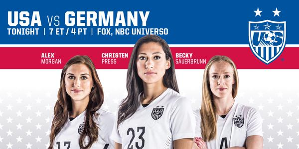 USA vs Germany, Women's World Cup semi-final: TV times and open thread