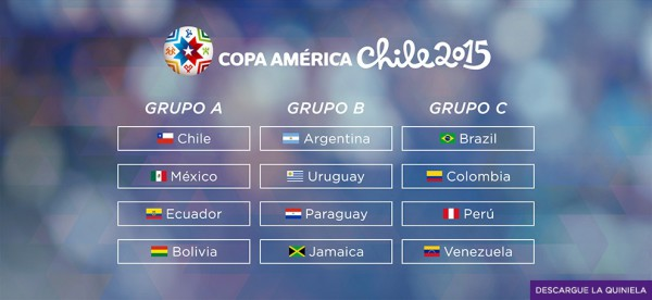 copa america groups 600x276 Copa America: Colombia vs Peru and Brazil vs Venezuela TV times and open thread