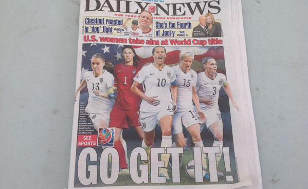 Newspaper front covers ahead of Women's World Cup final [PHOTOS]
