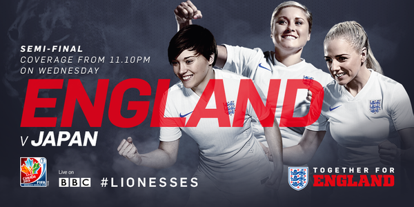 England-Japan Women's World Cup semi final TV times and open thread