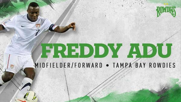 Freddy Adu given opportunity to salvage his career at Tampa Bay Rowdies