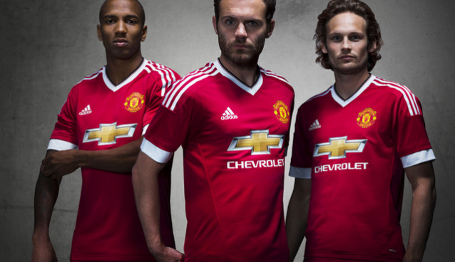 Manchester United unveil adidas home jersey for 2015/16 season [PHOTOS]