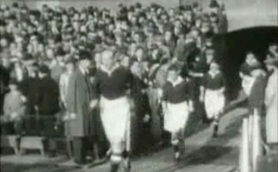 Rare footage of Chelsea vs. Arsenal from 1935 in front of 82,905 fans at Stamford Bridge
