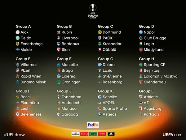 europa league groups