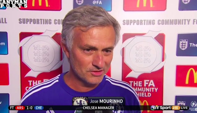 Jose Mourinho claims best team lost and Arsenal parked the bus [VIDEO]