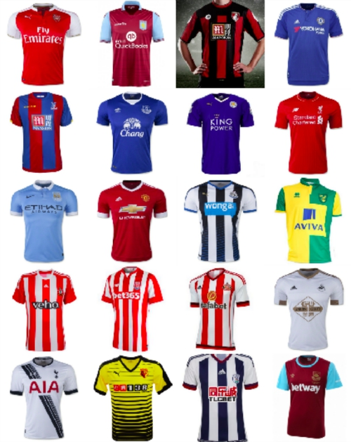 premier league club jerseys