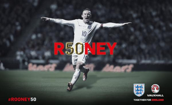Rooney scores his 50th international goal, passes Charlton for England's all-time mark [VIDEO]