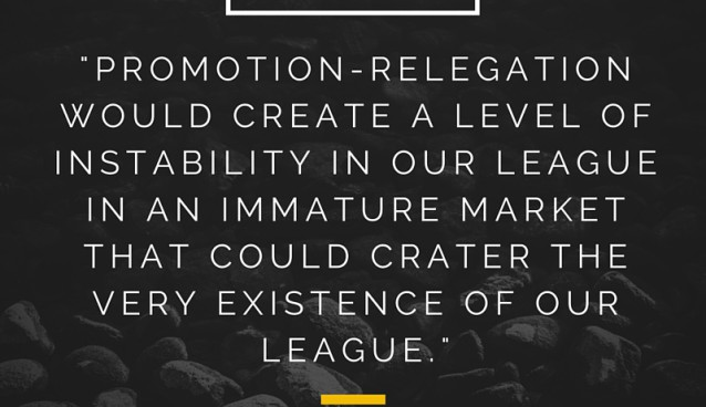 Are you for or against promotion/relegation in US soccer, and why?