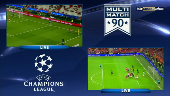 MultiMatch 90 is the best way to experience UEFA Champions League coverage on FOX Sports