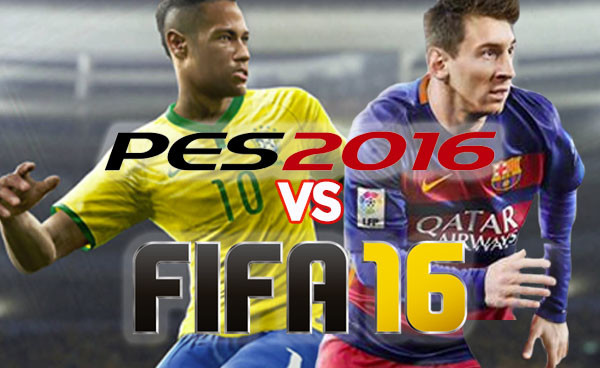 Rating FIFA 16 vs. PES 2016 on gameplay, commentary and career modes