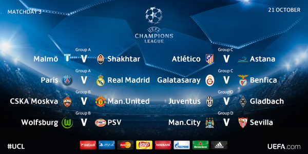 champions league games today