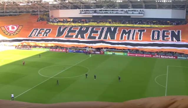 Dresden sets record for 1476-ft. banner in soccer game [VIDEO]