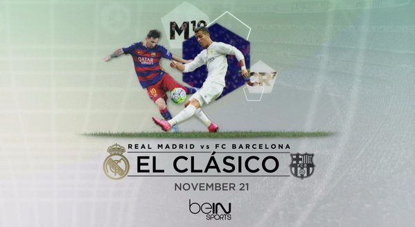 More than 1.8 million soccer fans in US watched El Clasico across beIN SPORTS networks