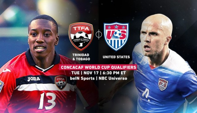 Where to find Trinidad and Tobago vs. USA's World Cup qualifier on US TV and streaming