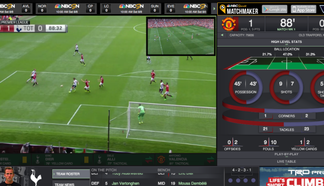 NBC Sports Live Extra ramps up Premier League 'Tactical Cam' offering this weekend