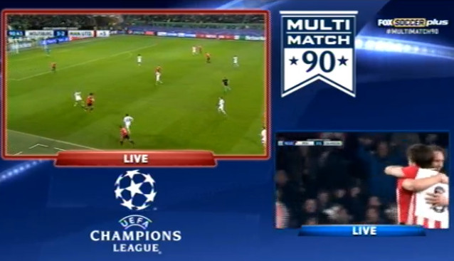 Tuesday's Champions League frenetic action is a perfect use case for FOX's MultiMatch 90