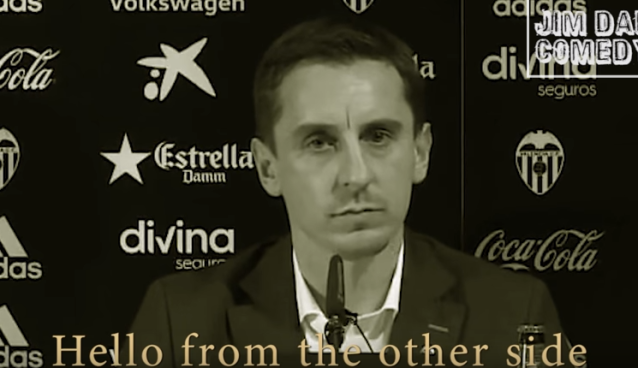 Listen to parody of Adele's 'Hello' song about Gary Neville
