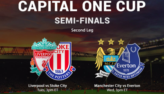 Where to find Manchester City vs. Everton Capital One Cup semi-final on TV