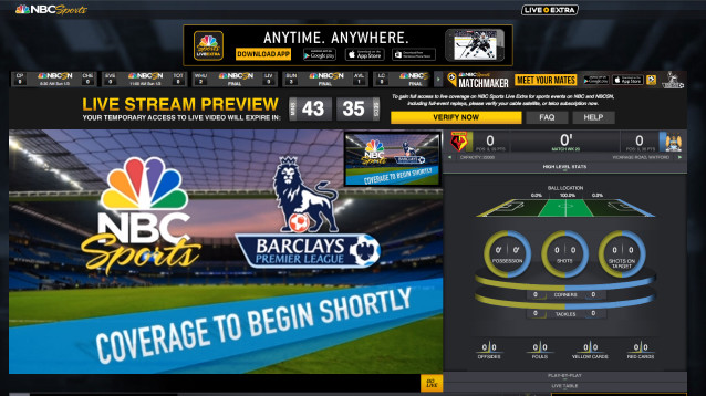 NBC adds 45-minute preview feature to NBC Sports Live Extra