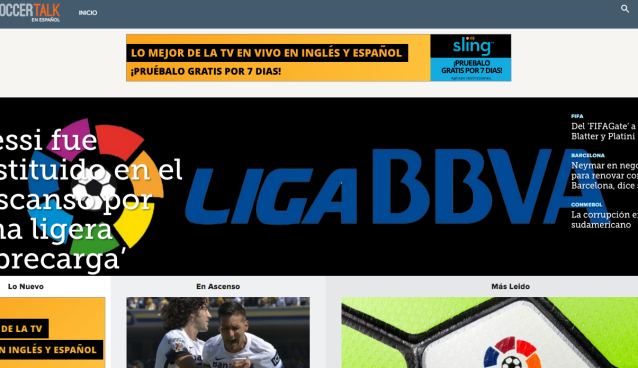 World Soccer Talk launches Spanish-language soccer website
