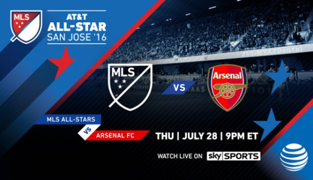 Arsenal to play 2016 MLS All-Star Game in San Jose