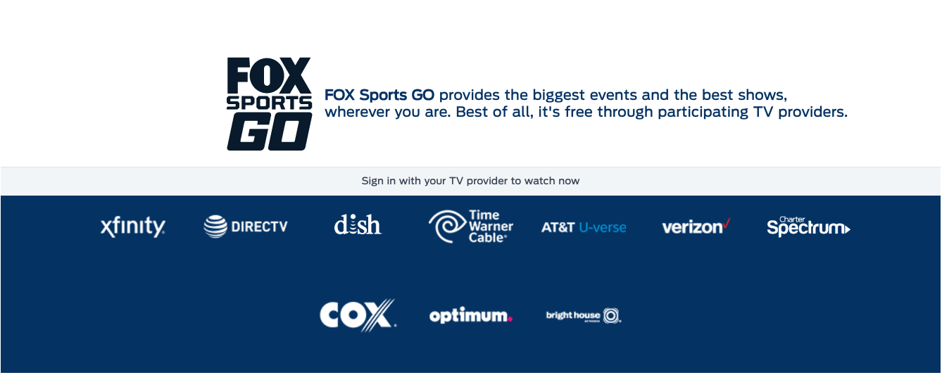 Brighthouse On The Go Fox Sports Go Redesign Goes Live Touting Improved Video Quality