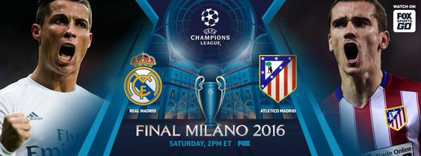 champions league final between real madrid and atletico madrid nets 3 million viewers world. Black Bedroom Furniture Sets. Home Design Ideas