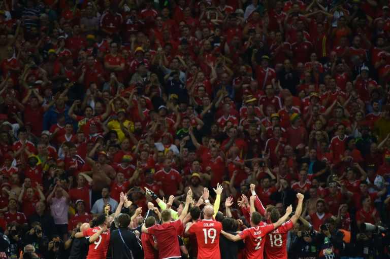 Wales Fans Go Wild After Team's Surprise Victory
