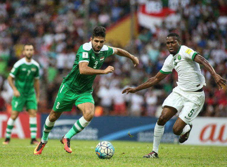 Late Saudi penalties catch Iraq napping in World Cup