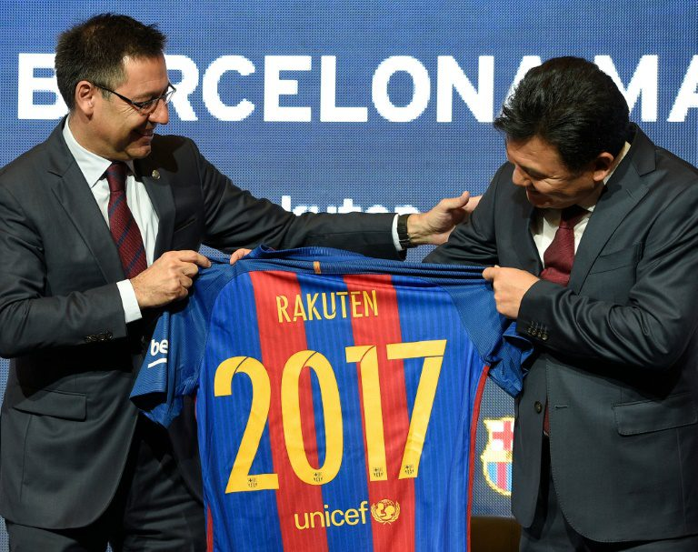Barca strikes new sponsorship deal with Japan's Rakuten