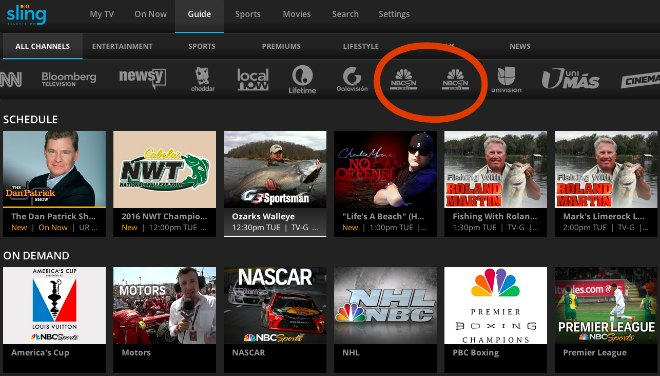 Sling Blue adds two alternate channels to show more ...
