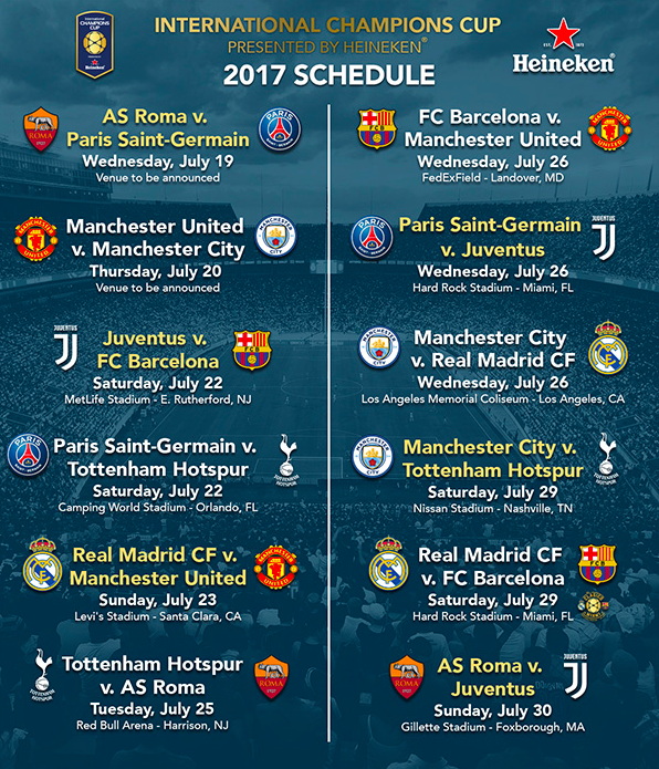 When Do International Champions Cup Tickets Go On Sale World Soccer Talk