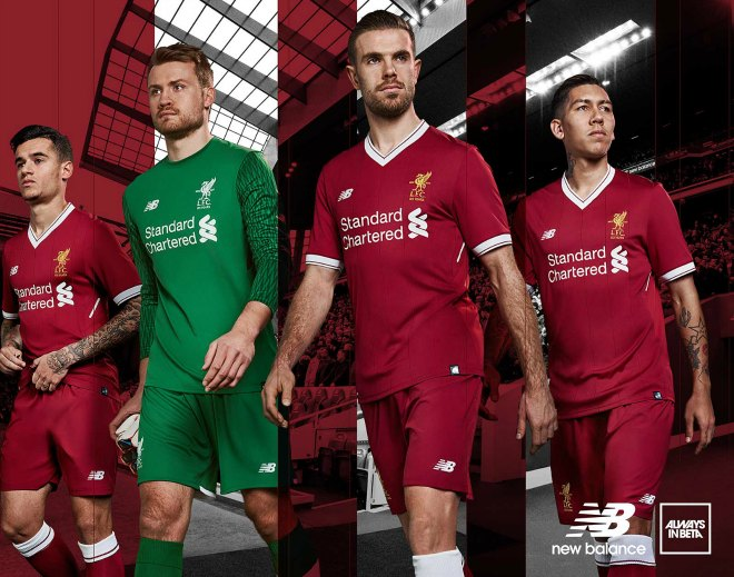ae9995b7e26 Liverpool home jersey for 2017/18 season commemorates 125th anniversary  with retro design