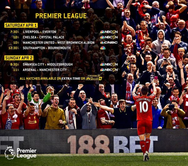most popular premier league clubs on us television based on average viewership