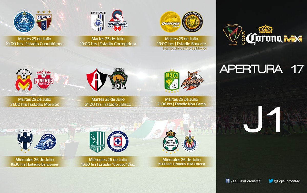 schedule of liga mx apertura games on us tv/streaming for gameweek 1