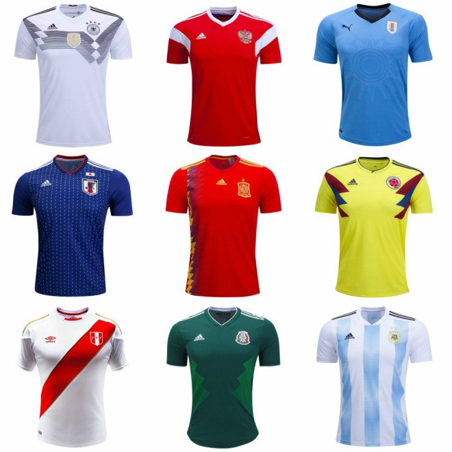 ac6bc67aadf 2018 World Cup shirts on sale for all 32 teams - World Soccer Talk