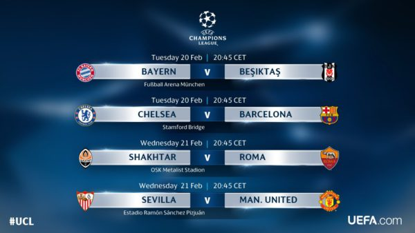 Schedule Of Uefa Champions League And Europa League Games On Us Tv This Week World Soccer Talk