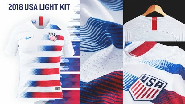 80e0494aa2e USA 2018 home shirt features unique design for men and women teams ...