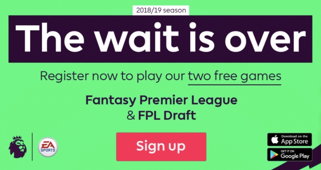 Sign up for 2018-19 Fantasy Premier League and join the